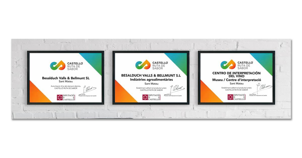 Ya formamos parte de Castelló Ruta del Sabor con tres certificaciones
