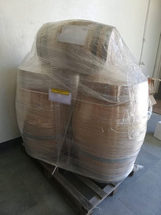 ya están llegando las barricas de roble francés para los vinos de crianza