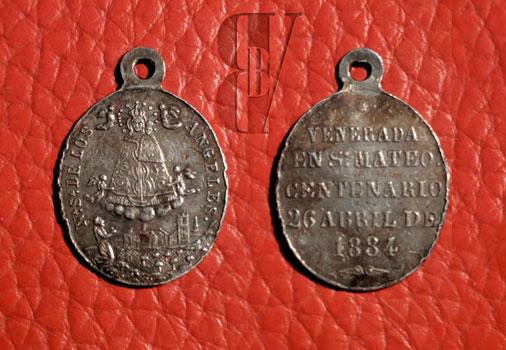 Medalla conmemorativa del tercer centenario de la Virgen de los Ángeles de Sant Mateu
