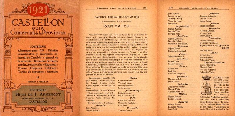 Sant Mateu hace ahora 100 años.